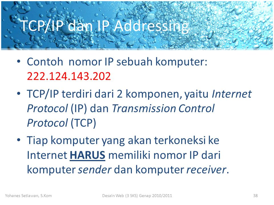 TCP/IP dan IP Addressing