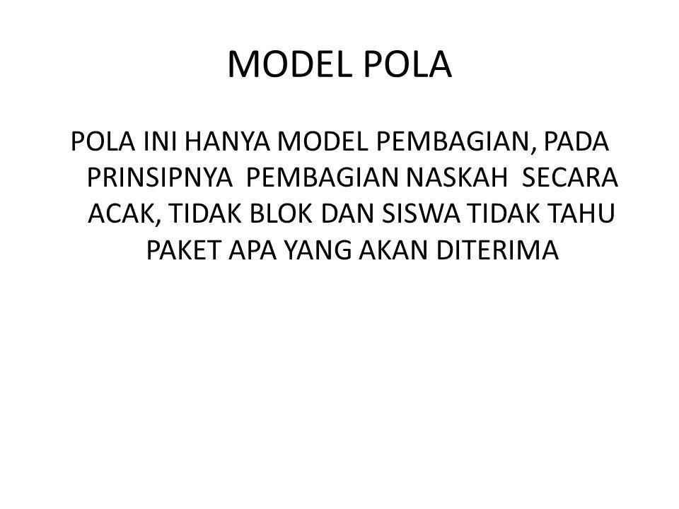 MODEL POLA