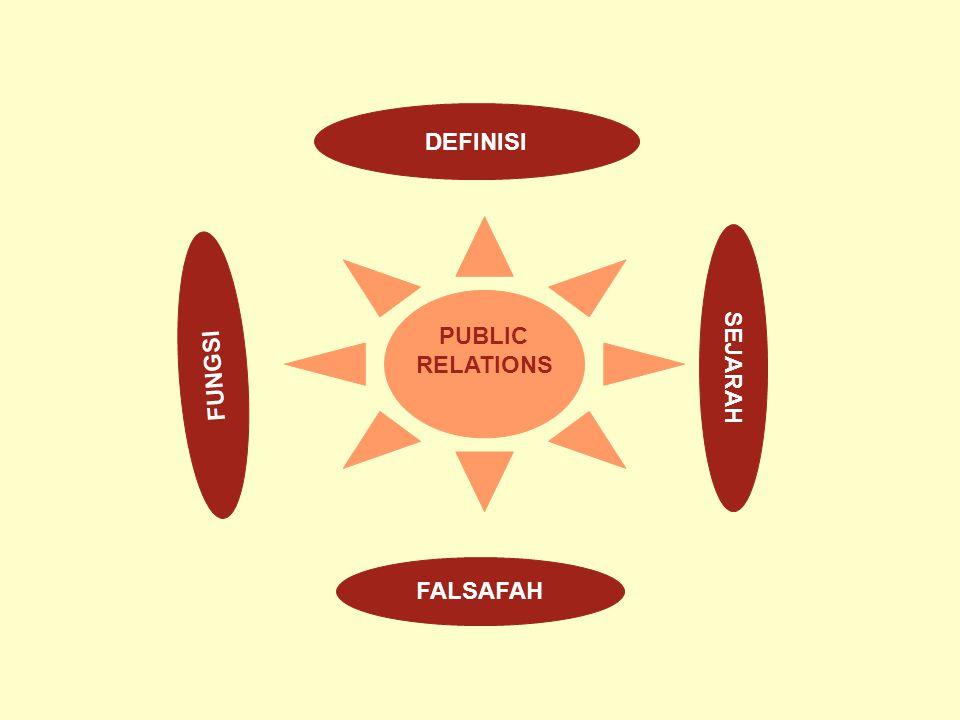 DEFINISI PUBLIC RELATIONS SEJARAH FUNGSI FALSAFAH