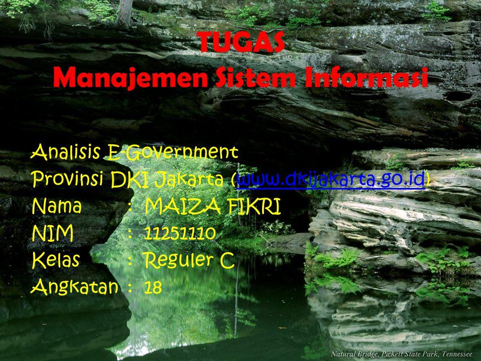 TUGAS Manajemen Sistem Informasi