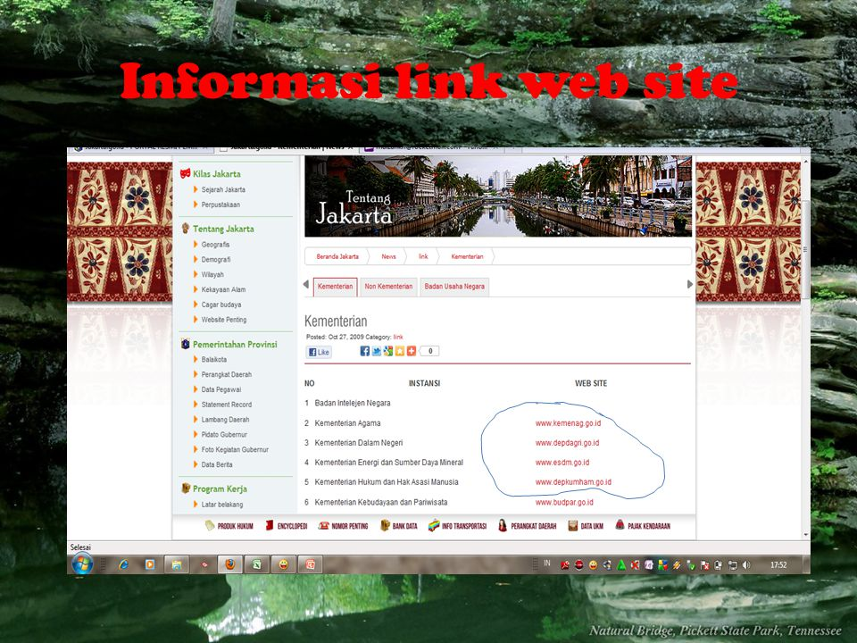 Informasi link web site