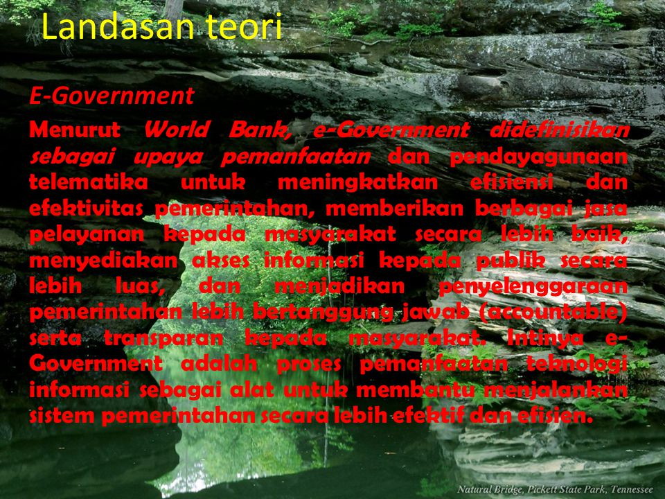 Landasan teori E-Government