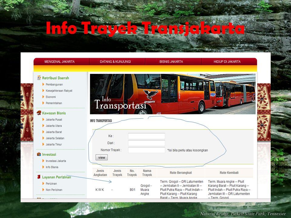 Info Trayek Transjakarta