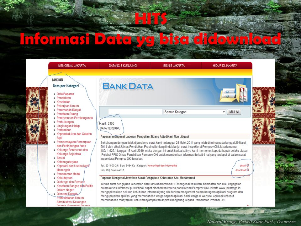 HITS Informasi Data yg bisa didownload