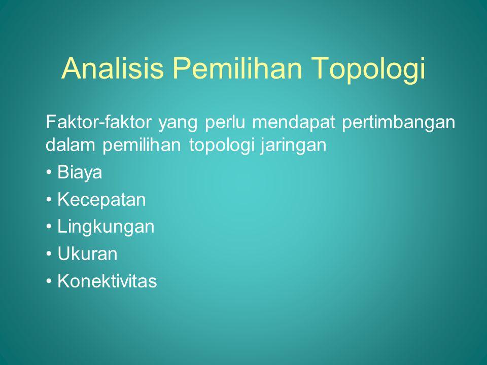 Analisis Pemilihan Topologi