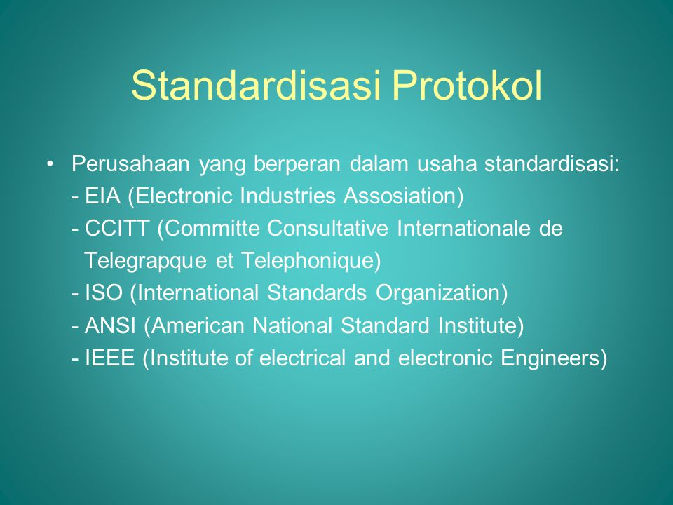 Standardisasi Protokol