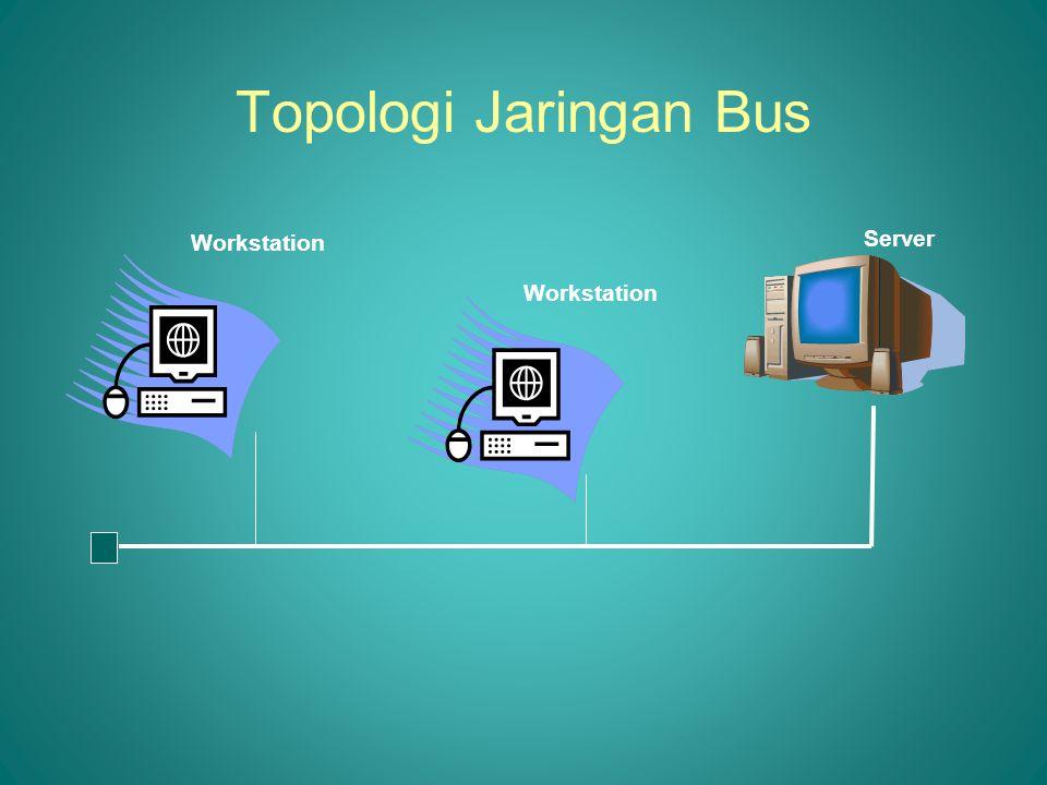 Topologi Jaringan Bus Workstation Server