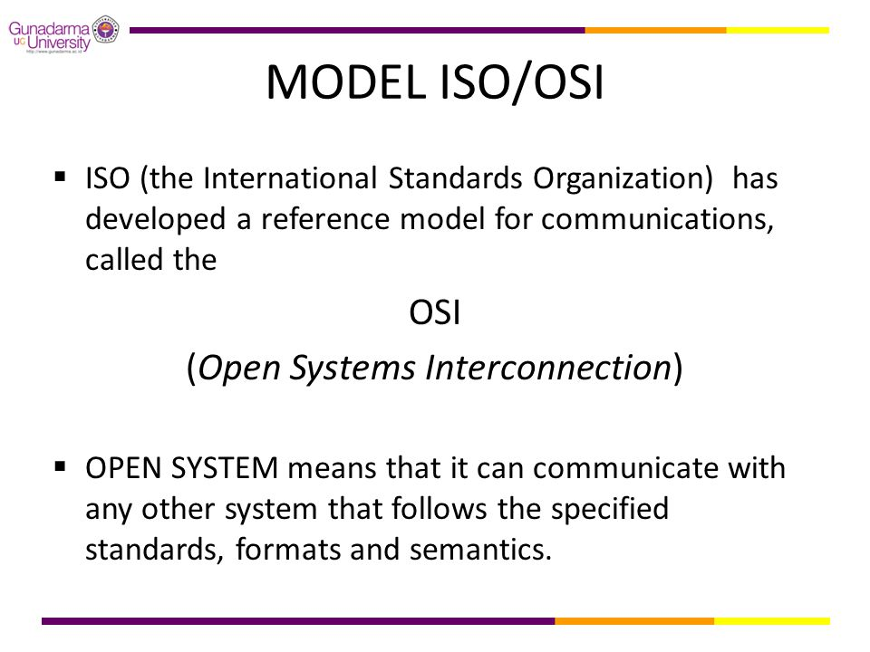 (Open Systems Interconnection)