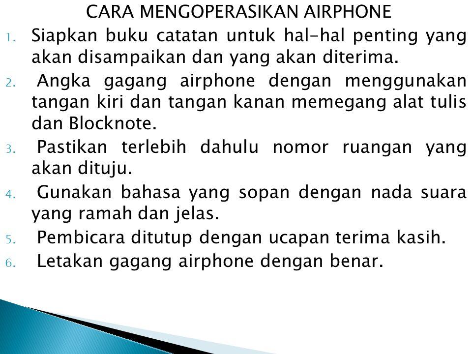 CARA MENGOPERASIKAN AIRPHONE