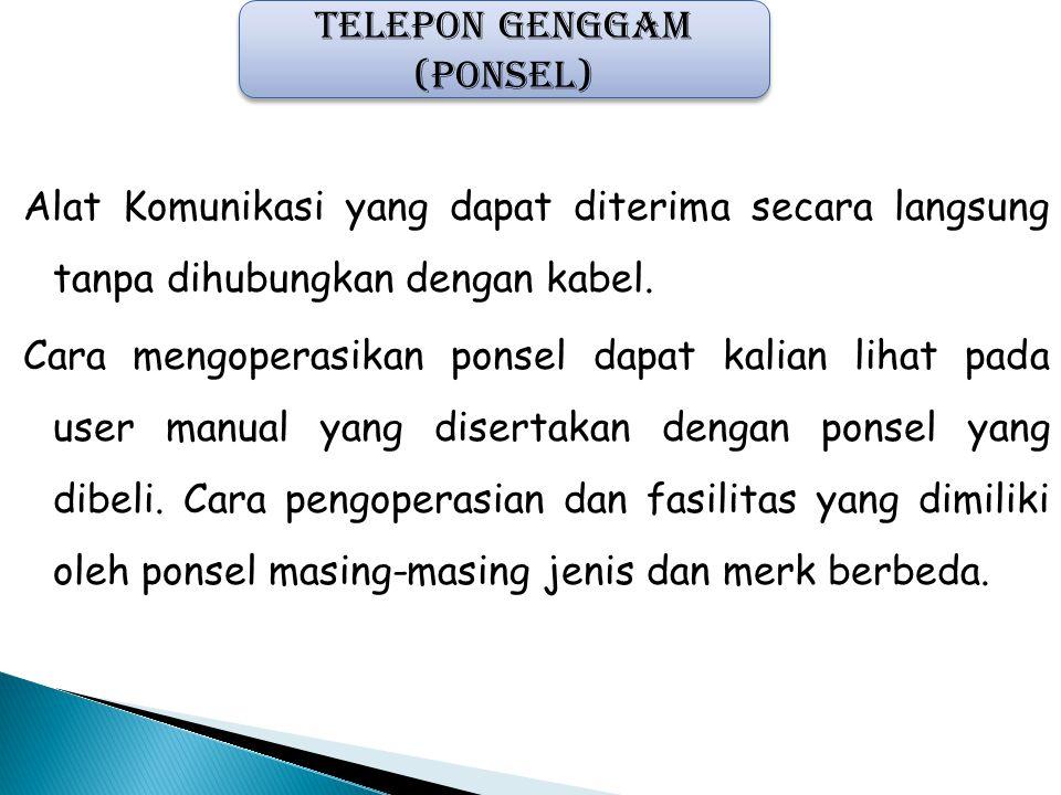 TELEPON GENGGAM (PONSEL)