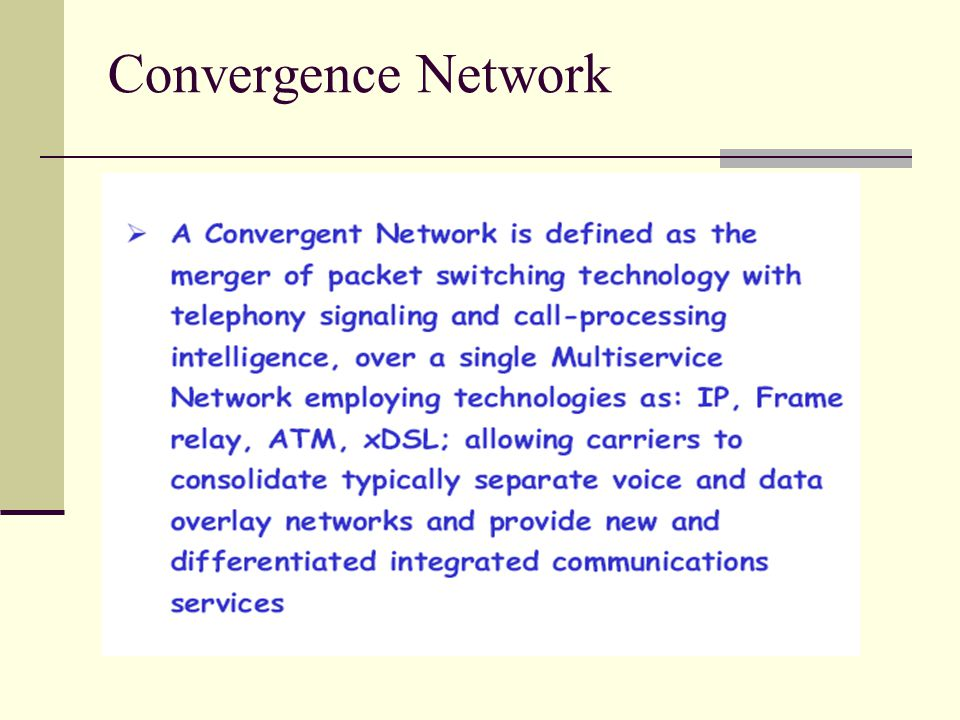 Convergence Network