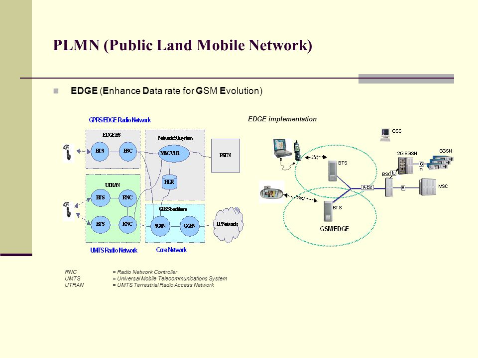 PLMN (Public Land Mobile Network)