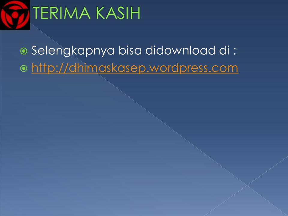 TERIMA KASIH Selengkapnya bisa didownload di :