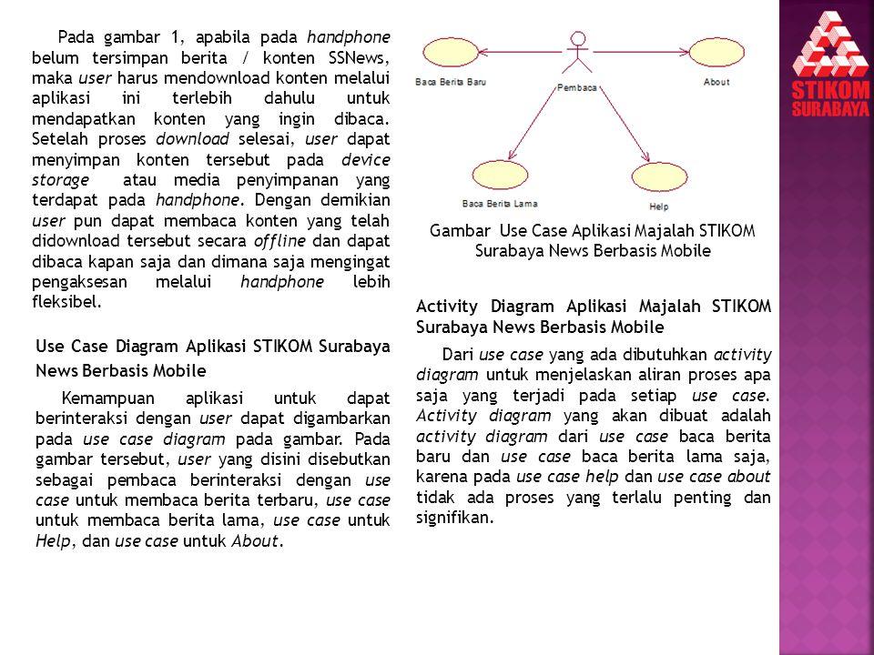 Gambar Use Case Aplikasi Majalah STIKOM Surabaya News Berbasis Mobile
