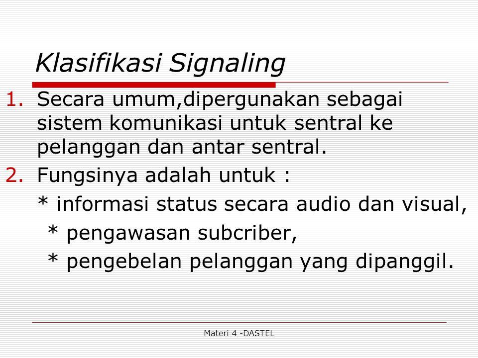 Klasifikasi Signaling