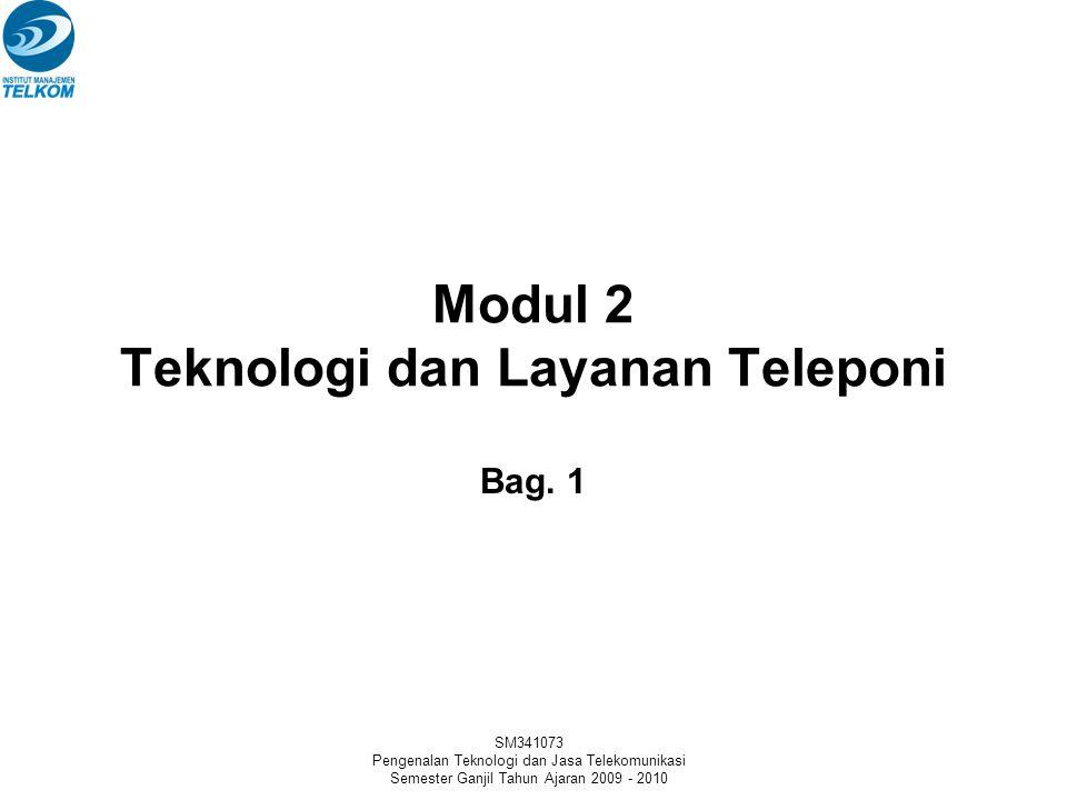 Modul 2 Teknologi dan Layanan Teleponi