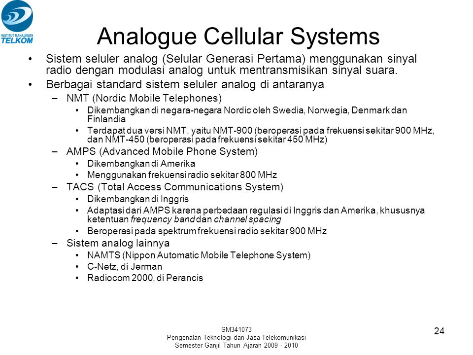 Analogue Cellular Systems