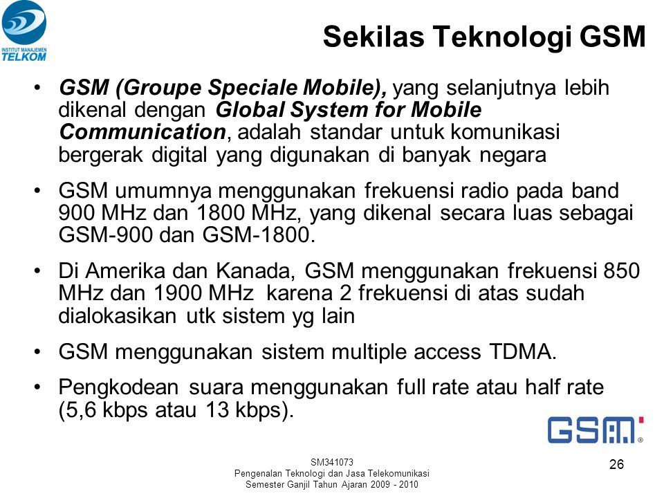 Sekilas Teknologi GSM