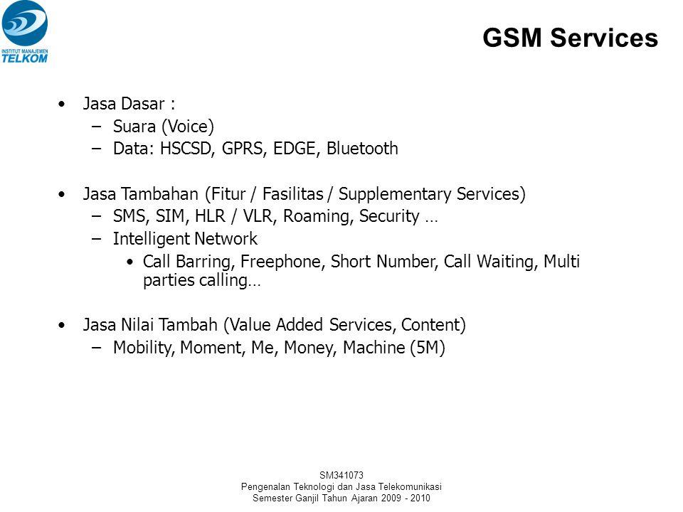 GSM Services Jasa Dasar : Suara (Voice)