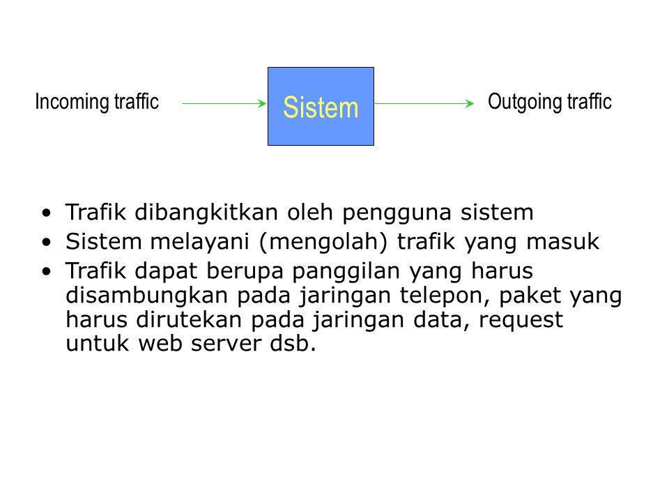 Sistem Incoming traffic Outgoing traffic