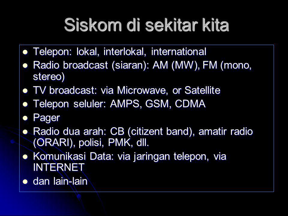 Siskom di sekitar kita Telepon: lokal, interlokal, international