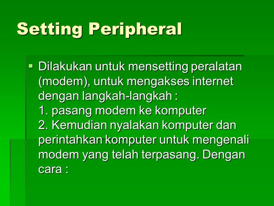 Setting Peripheral
