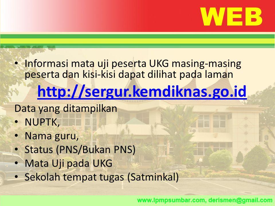 WEB http://sergur.kemdiknas.go.id