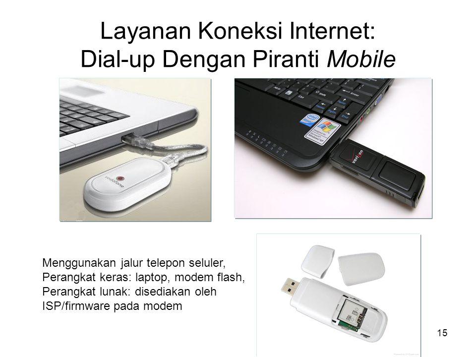 Layanan Koneksi Internet: Dial-up Dengan Piranti Mobile