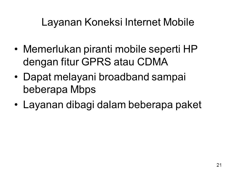 Layanan Koneksi Internet Mobile