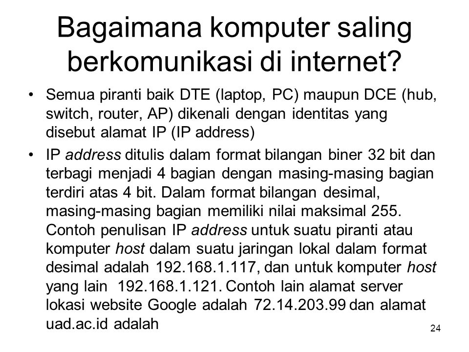 Bagaimana komputer saling berkomunikasi di internet