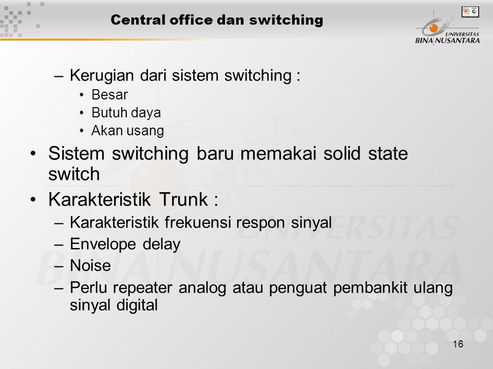 Central office dan switching