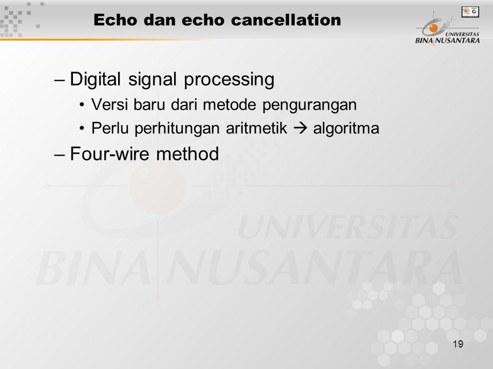 Echo dan echo cancellation