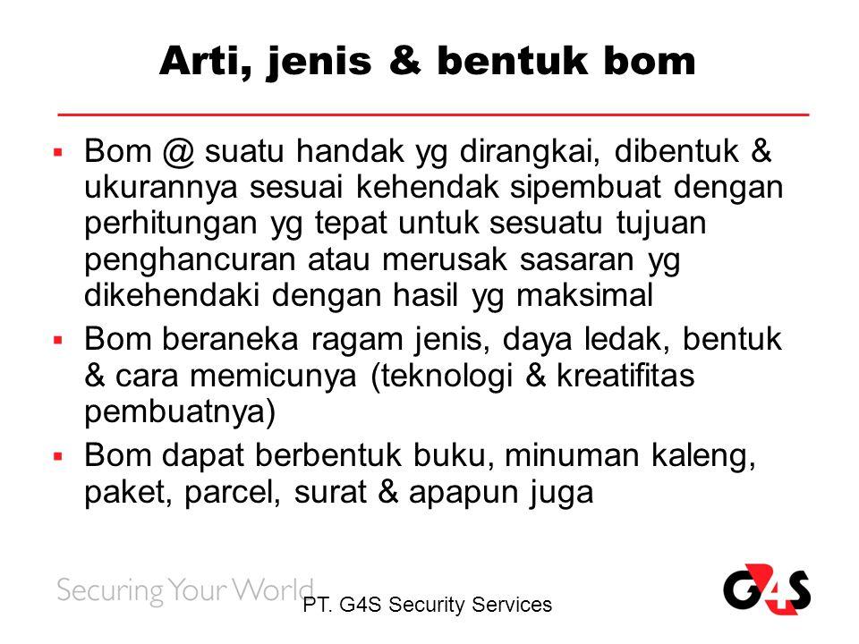 Arti, jenis & bentuk bom