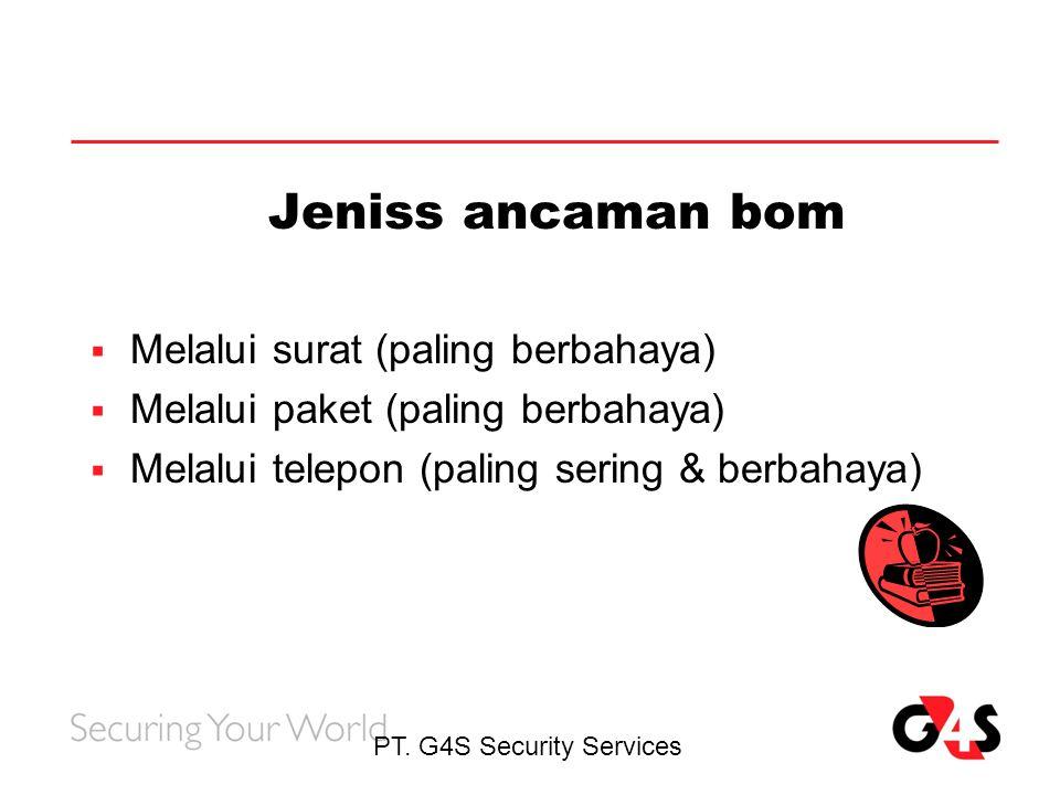 Jeniss ancaman bom Melalui surat (paling berbahaya)