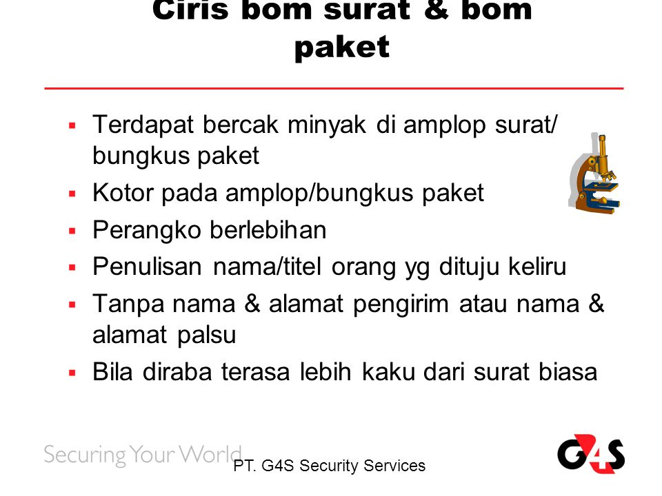 Ciris bom surat & bom paket