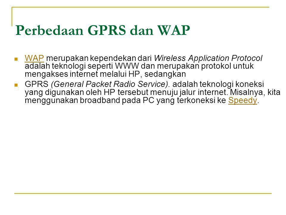 Perbedaan GPRS dan WAP