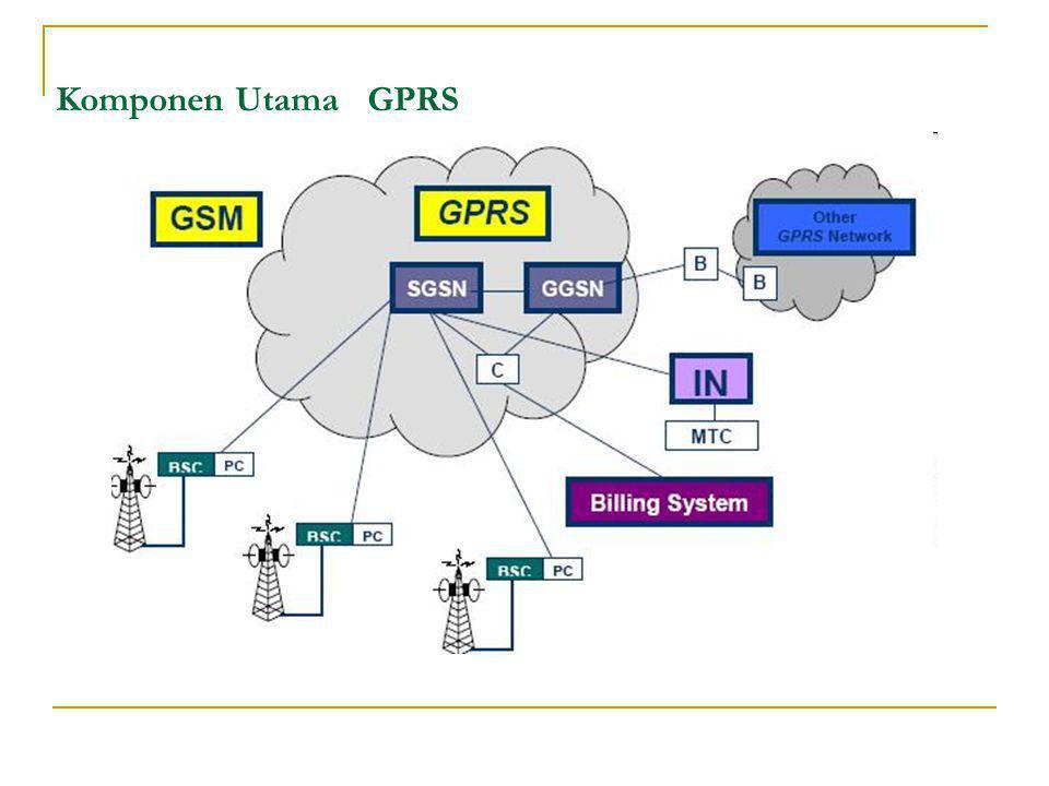 Komponen Utama GPRS
