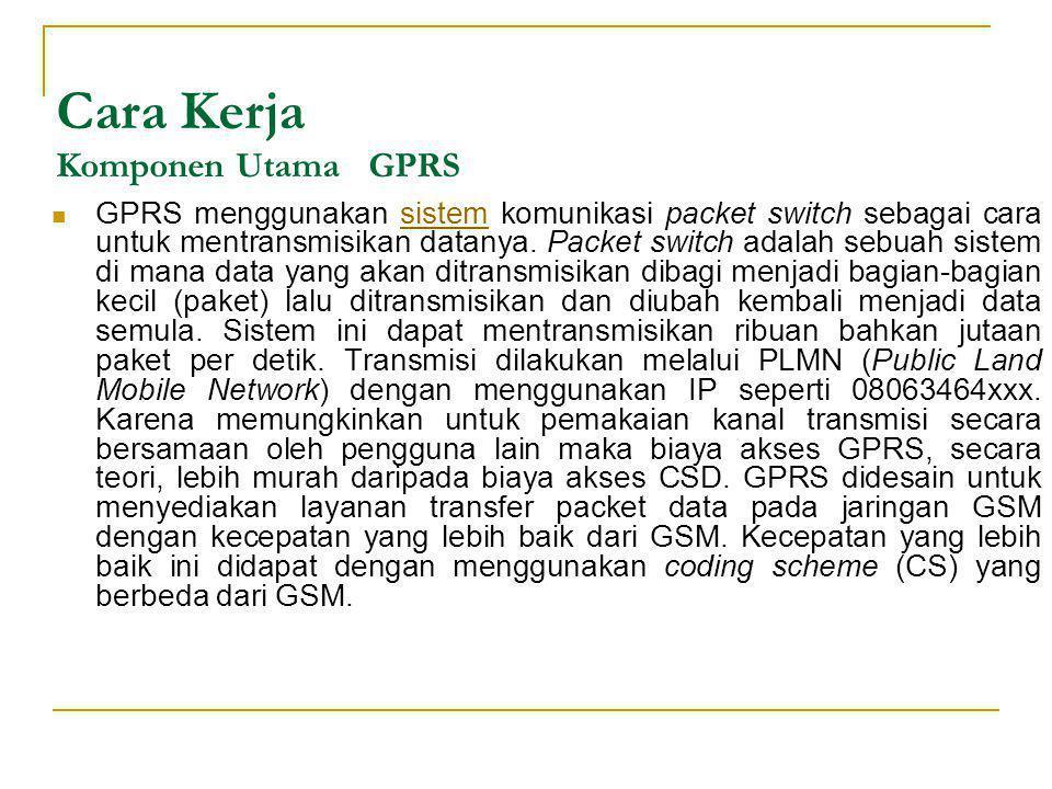 Cara Kerja Komponen Utama GPRS