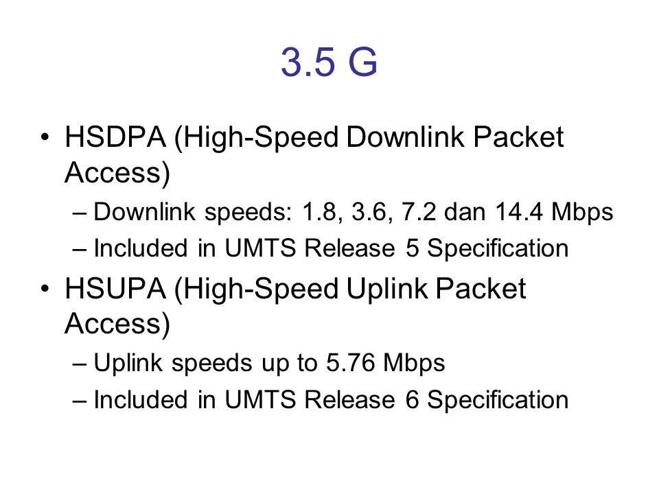 3.5 G HSDPA (High-Speed Downlink Packet Access)