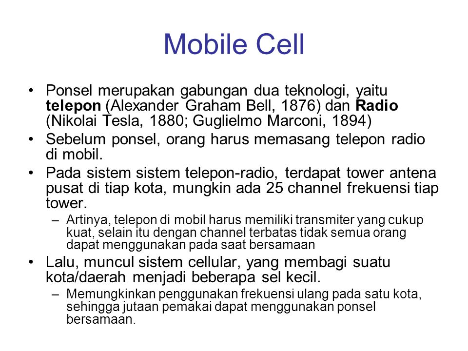 Mobile Cell