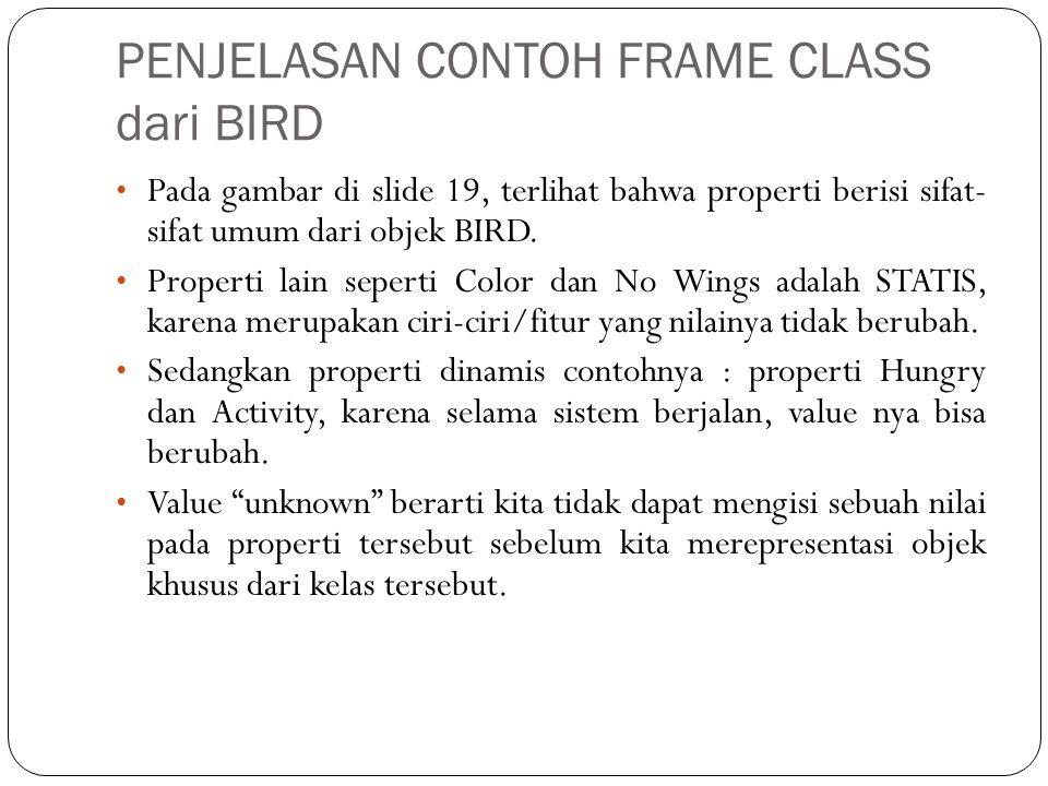 PENJELASAN CONTOH FRAME CLASS dari BIRD