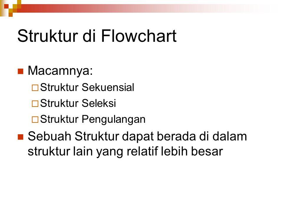 Struktur di Flowchart Macamnya: