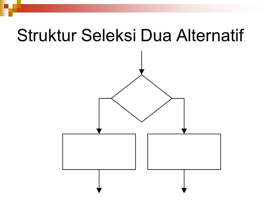 Struktur Seleksi Dua Alternatif