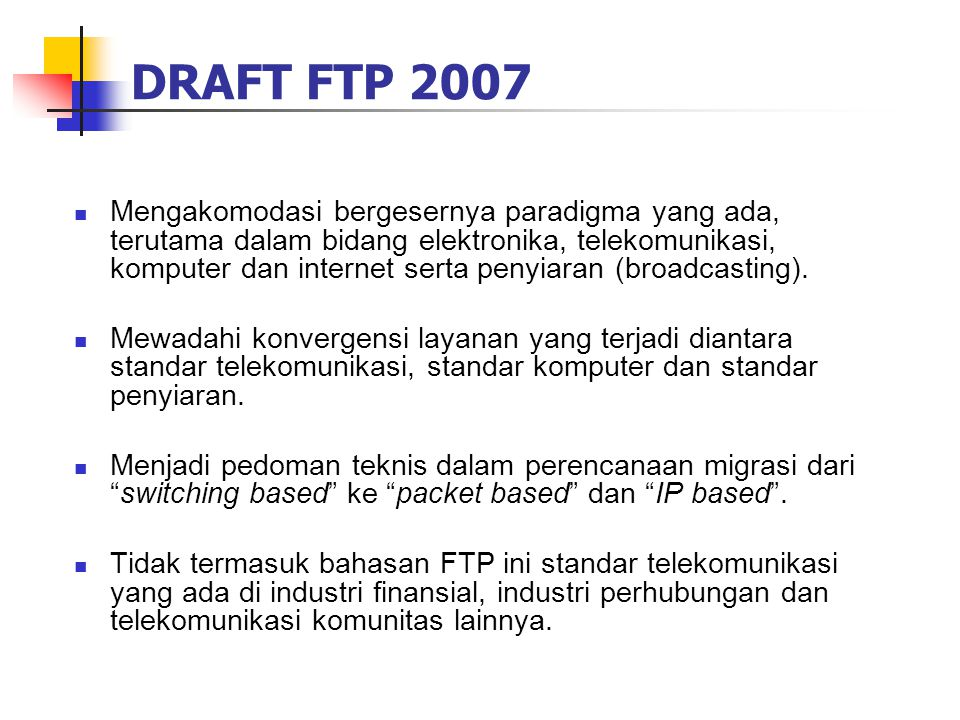 DRAFT FTP 2007