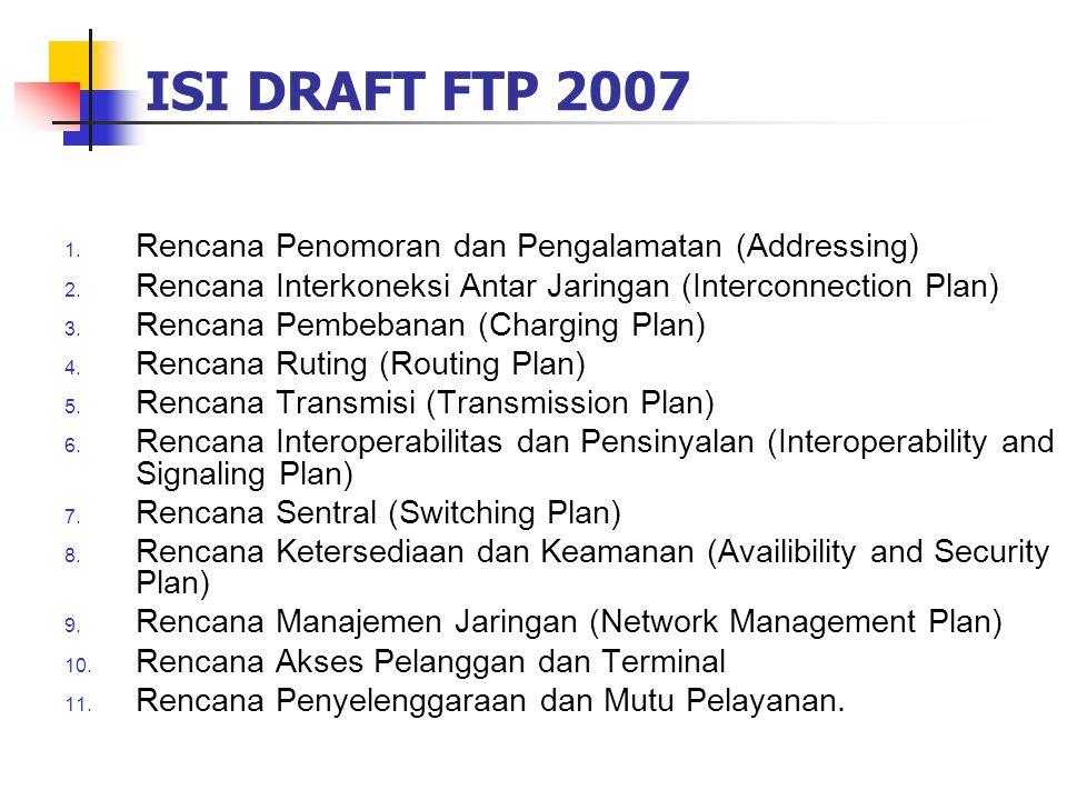 ISI DRAFT FTP 2007 Rencana Penomoran dan Pengalamatan (Addressing)
