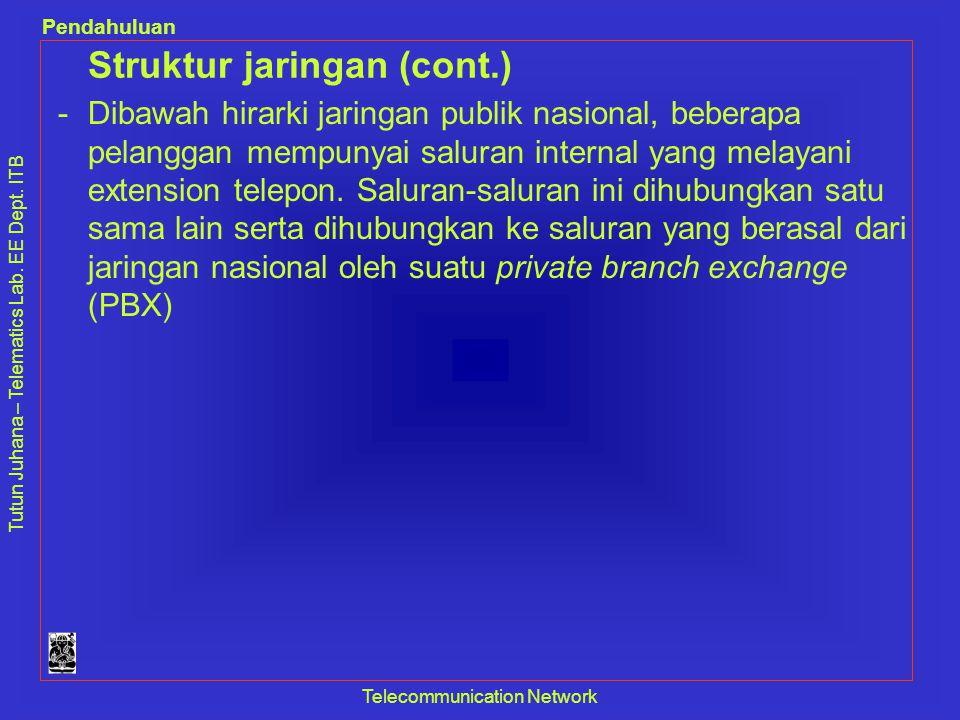 Struktur jaringan (cont.)