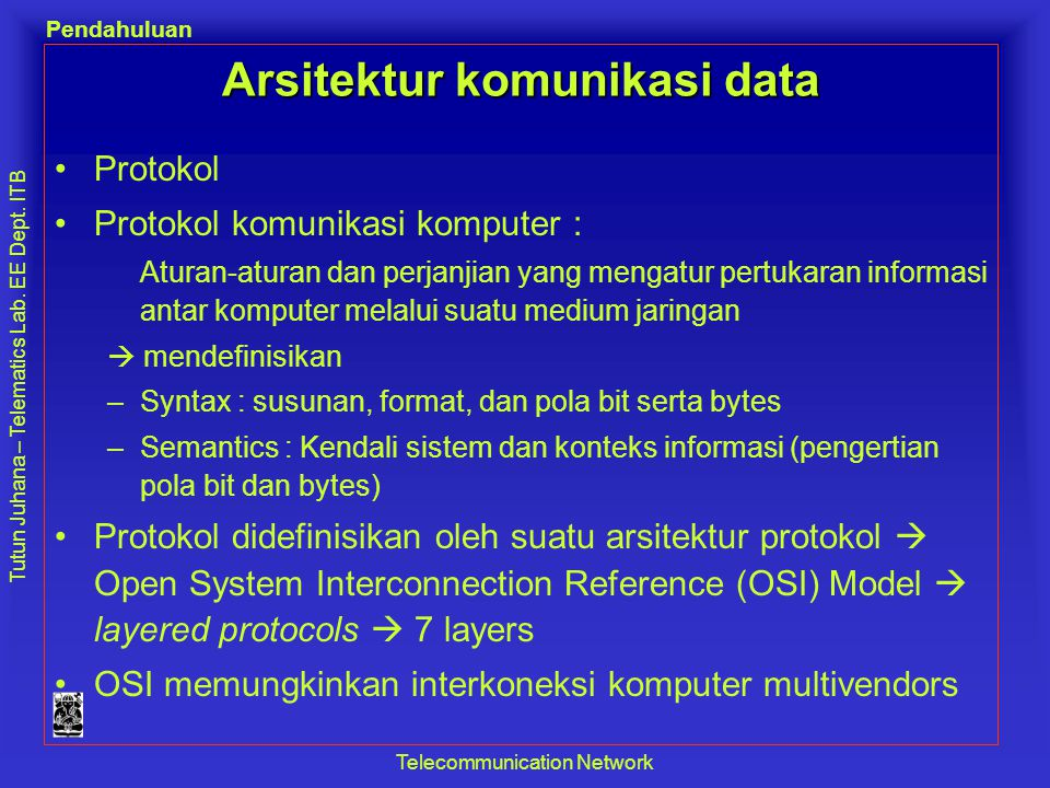 Arsitektur komunikasi data