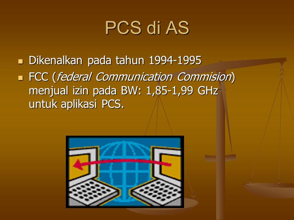 PCS di AS Dikenalkan pada tahun 1994-1995