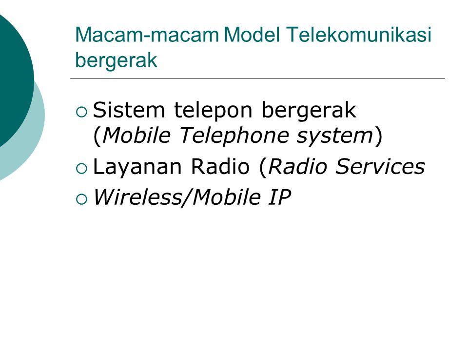 Macam-macam Model Telekomunikasi bergerak