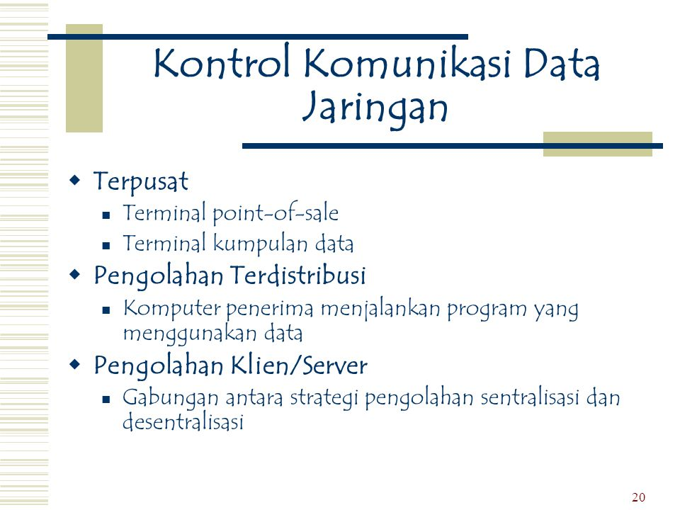 Kontrol Komunikasi Data Jaringan